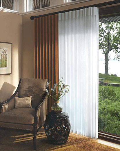 Ripple Fold Draperies Island Window Covering